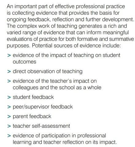 Figure 1: The Australian Teacher Performance and Development Framework, August 2012